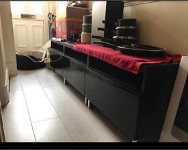 Black IKEA TV unit
