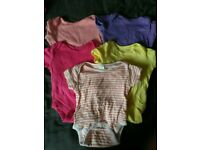 Baby girl 3-6 month bright vests