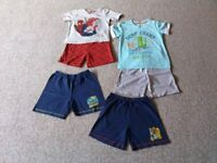 2-3 years bundle of 7 shorts & 2 tops in excellent condition