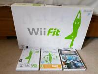 Wii Fit Balance Board and games bundle (boxed as new)