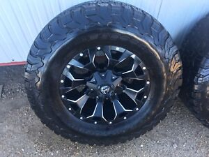 """18"""" Fuel Assault Rims - black with milled inserts"""