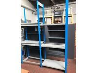 Blue & Grey Shelving Unit