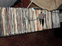 boxs of vinyl records