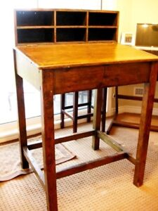 1800s POSTMASTER WICKET DESK Scrooge INDUSTRIAL CHIC prop