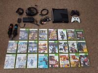 Xbox 360 S 250gb games two controllers sing star
