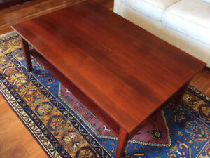 IKEA  red brown 2 level coffee table.
