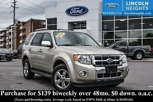 2011 Ford Escape LTD 4WD - LEATHER - BLUETOOTH - PWR MOONROOF -