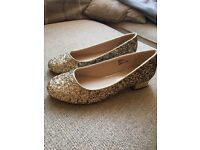 Never worn River Island size 4 women's glittery shoes