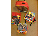 Fireman Sam suitcase and different sized bags as a set
