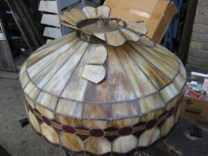 ANTIQUE  STAINED  GLASS SHADE