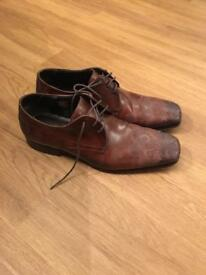 Real leather men's shoes size 43