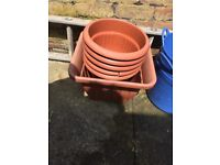 Job lot Buckets plant pots different sizes large and small all for £10
