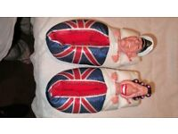 COLLECTABLE SLIPPERS, THE QUEEN AND PRINCE PHILIP.