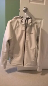 Women's White Winter Columbia Jacket/Coat Size Medium