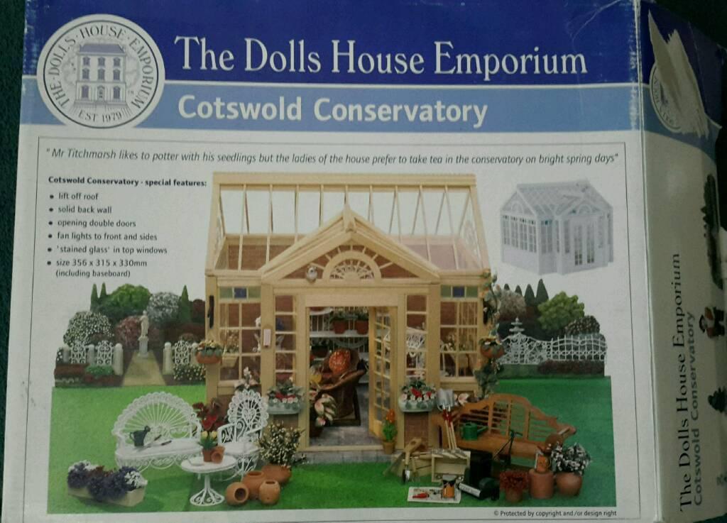 Dolls House Emporium Cotswold Conservatory Kit DE1992 wooden greenhouse garden dollshouse