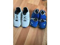 Bundle of boys adidas and Nike trainers and Next sandals & Croc Sandals from size 8 to 9.5