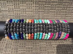 Aromatherapy Bracelets with Lava Rock Diffuser beads