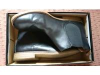 Burton leather look Chelsea boots size 12