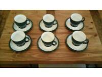 6 Denby Cups & Saucers in Great Condition.