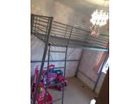Kids high metal frame bunk bed