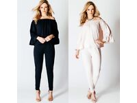 Wholesale Job lot Car boot Co Ord Off Shoulder Top & Skinny Trousers Black And Nude s/m m/l x 10