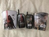 Star BRAND NEW! Brand new Star Wars popcorn tins and Star Wars plastic cups