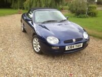 MGF 2 seater sports car