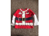 2-3yrs Father Christmas top