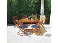 Six seater garden set