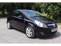 57 reg VauxHall Corsa 1.3 Cdtyi 3 Door Black 90,000 Miles £1995