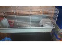 Rabbit cage on stand
