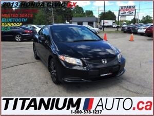 2013 Honda Civic EX+Camera+Sunroof+Heated Seats+BlueTooth+ECO+Al