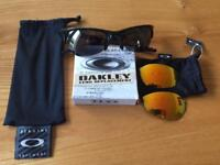 Oakley Half Jacket Sunglasses with replacement Fire lens