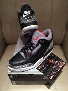 2001 BLACK CEMENT 3 III DS NEW SZ 11 NIKE AIR OG JORDAN BC3 HEAT