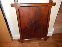 Rare Vintage Shakespeare English Wood burned Panel & Arts & Crafts Frame - circa 1900 -1920's