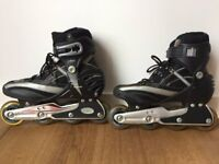 Inline skates, size 7 (recommended for size 6 + socks)