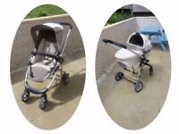 Icandy cherry travel system pram and buggy with carrycot