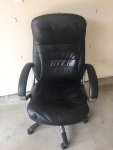 Black leather chair for sale