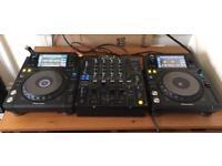 Pioneer DJM-800 and 2 x XDJ-1000