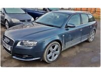 FOR BREAKING OR SPARES - AUDI A4 AVANT S LINE 2.0 TDi AUTOMATIC 2008