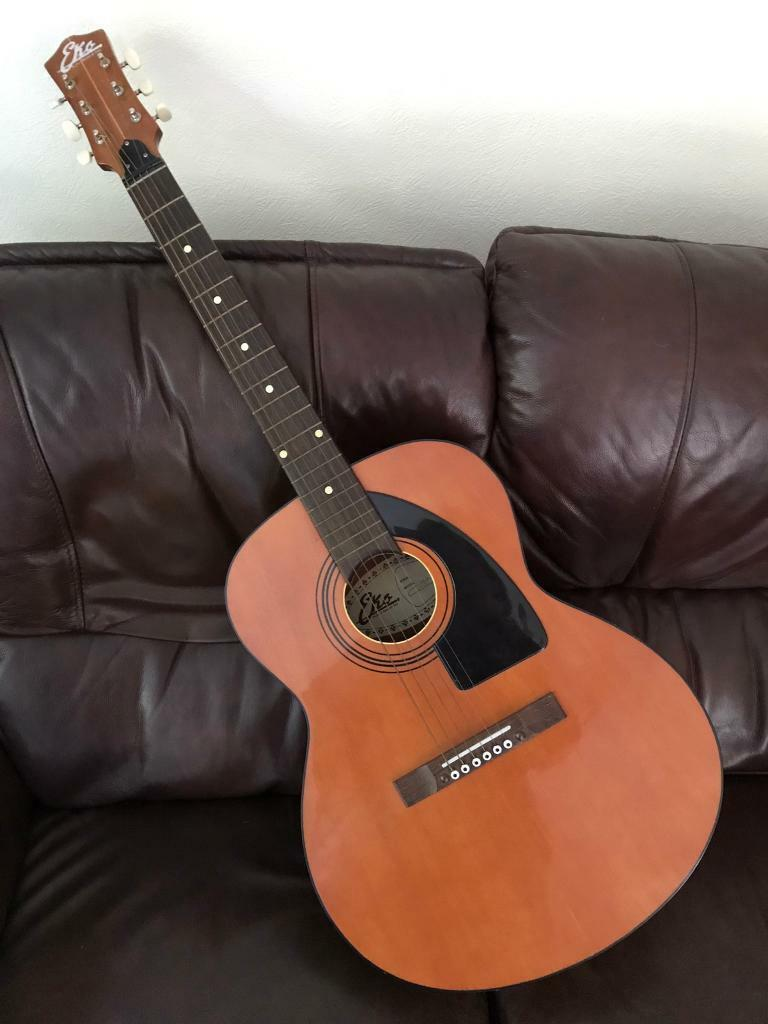 Eko Navajo 6 1970 S Acoustic Guitar With Carry Bag In