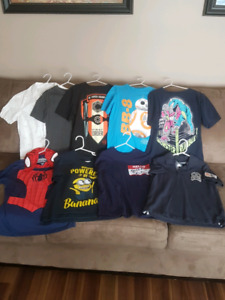 9 Back to school shirts, sz 10