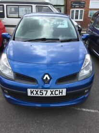 "2007 Renault Clio Turbo model, MOT until March 2018, part service history, 15""Alloy's"