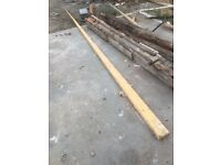 Timber ferings for flat roof to form slope 150mm to 0 mm over5 meters 50 mm wide