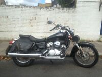 Black Honda Shadow VTS125 - LOW MILEAGE