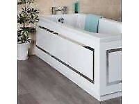 White Horizontal Stripe Bath 1700mm Front Bath Panel.... brand new