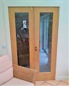 SOLID OAK FRENCH DOORS
