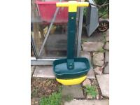 Garden seed spreader plastic handle lawn mower