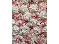 Stunning Blush Pink Flower Walls for Hire - Weddings, Photoshoots ... other colours, and for sale