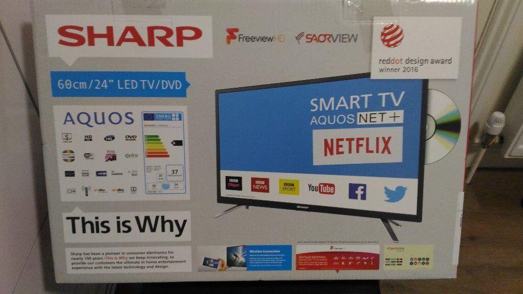 sharp 24 inch smart tv. Sharp 24\u0026quot; SMART LED HD TV AQUOUS NET+ 24 Inch Smart Tv